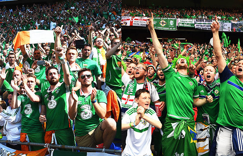 アイルランドと北アイルランドサポーターが、パリ市から表彰を受ける ...
